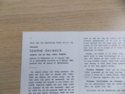 Doodsprentje Leonie Decrock Wijtschate 12/2/1893 - 6/2/1980 ( Alidor Comyn ) - Religion & Esotericism