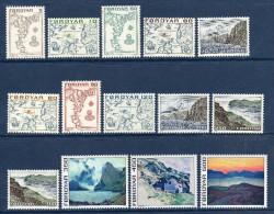 FEROE Faroer 1975 Cartes Landkarten Landscape Yv 1/14 Mi 7/20 MNH ** - Féroé (Iles)