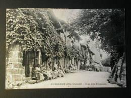 Ref2429 AX109 - CPA Animée Bujaleuf (Haute Vienne, Limousin) - Rue Des Fileuses - Artisanat Métier - France