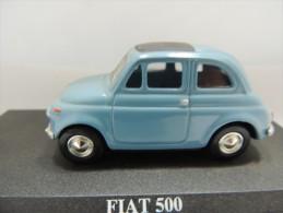 X FIAT 500  DEL PRADO CAR COLLECTIONS 1/43 BASETTA DEDICATA NO BOX - Automobili