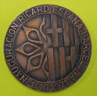 1971 Inauguratiocion Ricard Barcelona Espana Espanya 61 Grammes Diamètre 5cm Rien Au Dos Pas De Poinçon Sur Tranche - Professionals/Firms