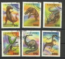 Tanzania - 1994 Dinosaurs Set (ex The Lowest Value) CTO    SG 1800-5  Sc 1218-23 - Tansania (1964-...)