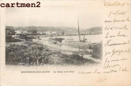 BONNIERES-SUR-SEINE LA SEINE ET LE PORT PENICHE 1900 YVELINES - Bonnieres Sur Seine