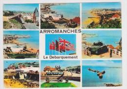 ARROMANCHES EN 1972 - LE DEBARQUEMENT - PETITE DECHIRURE EN BAS - MONACHROME - Arromanches