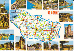 CPSM DEPARTEMENT CONTOUR GEOGRAPHIQUE  80 SOMME CIM CARTE MICHELIN N° 989 - Maps