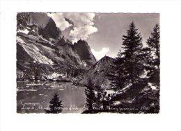 Cartolina Courmayeur - Lago Di Miage Con Sfondo Aiguille Noire De Peuterey (parete Sud) 1956 - Non Classés