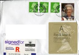 Great Britain To Moscow Registered Payment Sticker Queen Elizabeth II - 1952-.... (Elizabeth II)