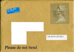 Great Britain To Moscow Payment Sticker  Queen Elizabeth II - 1952-.... (Elizabeth II)