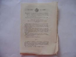 MILANO TRAMVIA URBANA PIAZZA DUOMO-VIA SETTEMBRINI GRECO MILANESE REGIO DECRETO 1919 - Decreti & Leggi