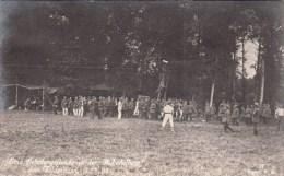 Photocarte Allemande-Groupe De Militaires Soldats Allemands Abri SPORT Descente S/filin 1915 (guerre14-18)2scans - War 1914-18
