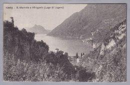 TI S.Mamette E Albogasio 1909.X.23 Lugano Nach Regensburg De   Phototypie Neuchatel - TI Tessin