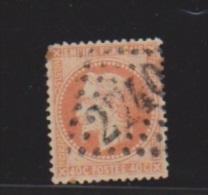 40 Centimes Orange // N 31  //   Cachet 2740  //  Orléans - 1863-1870 Napoléon III Con Laureles
