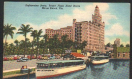 MIAMI BEACH - Sightseeing Boats - Roney Plaza Hotel Docks - Boat GRAY LINE SIGHTSEEING NO2 - Miami Beach