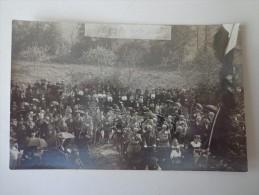 CPA PHOTO ETHE 1920 COMMÉMORATION MILITAIRES GRADES - Belgique