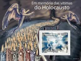 SAO TOME IN MEMORY OF HOLOCAUST VICTIMS JEW JEWISH JUDAICA S/S MNH C10 ST10212B - Religions