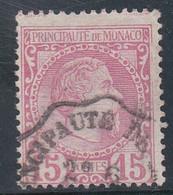 MONACO - 1885 - YVERT N°5 OBLITERE - COTE = 45 EUROS - Monaco