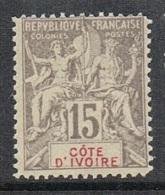COTE-D'IVOIRE N°15 N**  Fournier - Costa D'Avorio (1892-1944)