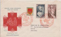 France FDC  - Illustrée 1er Jour - Croix Rouge - Red Cross - Paris 22/12/1950 - Cote : 450€ - 1950-1959