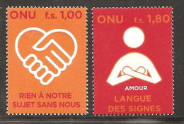 UNITED NATIONS GENEVA 2008  PERSONS WITH DISABILITY SET MNH - Neufs