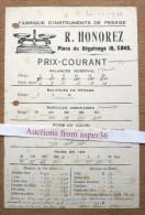 Fabrique D'Instruments De Pesage, R. Honorez, Place Du Béguinage, Gent 1921 - Collections