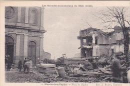23604 Montauban - Place De L´Eglise - Les Grandes Inondations Du Midi - 1930 - Ed 11 Bouzin Toulouse - Catastrophe - Montauban