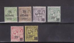 MONACO - 1920 - YVERT N°48/53 * CHARNIERES LEGERES - COTE = 57 EUROS - Ongebruikt