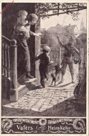 Photocarte Allemande-Vaters Heimkehr Retour Du Soldat 1915 ESSEN (guerre14-18)2scans - Weltkrieg 1914-18