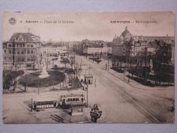 Tram, Antwerpen Victoriaplaats, Anvers Place De La Victoire - Tramways
