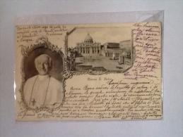 PAPA LEONE XIII IN PIAZZA SAN PIETRO ROMA VIAGGIATA S - Papi
