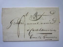 Lettre  De  1821  Au Départ De  TARBES  à Destination De  CASTELSARRAZIN  Avec Marques Poatales - Marcophilie (Timbres Détachés)
