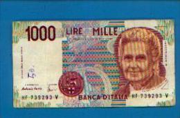 (Italie) - 1000 Lires (M. MONTESSORI) - [ 2] 1946-… : République