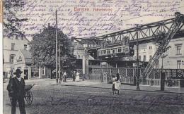 Allemagne - Barmen - Adlerbrücke / Train / Métro /Architecture - Postal Marks 1912 Barmen - Wuppertal