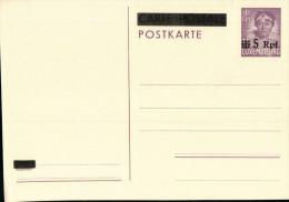 Ganzsache Luxemburg - Charlotte Mit Dem Pelzkragen - 75 C - Überdruck 5 Rpf (1940?) - Besetzungen