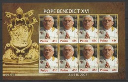 Palau (2007) Yv. 2316 - MS  /  Pope Benedict XVI - Ratzinger - Papst Benedikt - Pausen