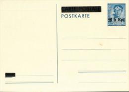 Ganzsache Luxemburg - Charlotte Mit Dem Pelzkragen - 35 C - Überdruck 6 Rpf (1940?) - Besetzungen