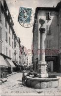(06) - Antibes - La Rue De L'Hotel De Ville - Fontaine & Enfants - Unclassified