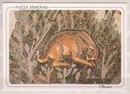 Piazza Armerina , Villa Romana Del Casale , Der Saal Der Kleinen Jagd , Die Hasen , Detail - Kunstgegenstände