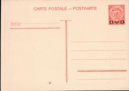 Ganzsache Luxemburg -  1 Franc - Überdruck 15 Rpf (1940?) - Besetzungen