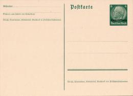 Ganzsache Luxemburg -  Hindenburg 6 Pfennig, Überdruck (1940?) - Besetzungen