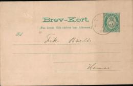 Ganzsache Norwegen 1891 - Norwegen