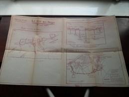 Le RAID Sur DIEPPE - 19 Août 1942 / Planche N° 44 (?) - ( 38 X 61 Cm. / Voir Photo Pour Detail ) ! - Documents