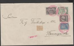 O) 1922 COLOMBIA, SCADTA, SCADTA 1 PESO, CORDOBA, BOLIVAR, SCADTA 30 CENTAVOS, TO BARRANQUILLA - Colombie