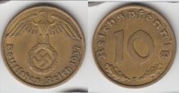 **** ALLEMAGNE - GERMANY - 10 REICHSPFENNIG 1937 F - 3�me REICH - THIRD REICH **** EN ACHAT IMMEDIAT