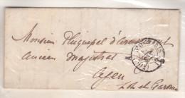 France - Lettre Port Du Au Départ De Paris Obl 1856 - Cachets: Paris 3e Bureau 11 30 Cts / Pour Agen - 1849-1876: Période Classique