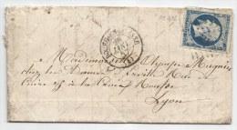 - Lettre - AIN - BOURG EN BRESSE -PC.472 S/TPND Napoléon III N°14 + Càd Type 15 - 1857 - 1853-1860 Napoléon III