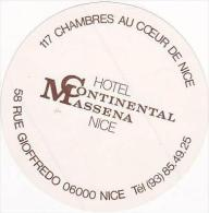 FRANCE NICE HOTEL CONTINENTAL MASSENA VINTAGE LUGGAGE LABEL