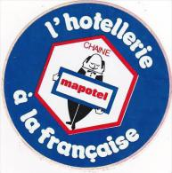 FRANCE CHAINE HOTEL MAPOTEL VINTAGE LUGGAGE LABEL