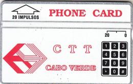 CAPE VERDE(L&G) - CTT Logo(20 Units), CN : 112A, Tirage 15000, Mint - Cape Verde