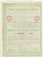 Obligation De 250 Baisers Au Porteur Société Sentimentale Des Amours Cachet Ambulant Gien à Orléans - Other