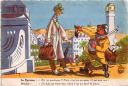 """Blague De Marius Qui Montre Un Corbeau à Un """"citadin"""" Dessin De Ptacé  (12.78) - Humor"""